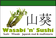 Wasabi and sushi